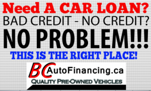 Car Loans In BC With Bad Credit